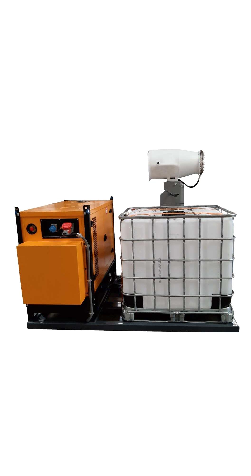 Nevelkanon met generator en waterreservoir