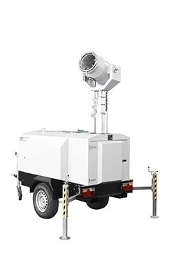 X-Dust 4000 nevelkanon met generator en waterreservoir